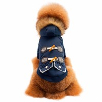 Small Dogs Costume Clothes For Little Dogs Overalls Pet Dog Cat Fur Collar Ox Horn Button