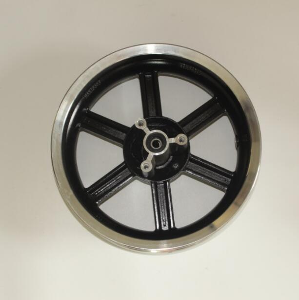 6 rayons 12 pouces roue pour scooter avant disque en aluminium roue arrière tambour en aluminium roue