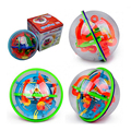 Hot 3D Magic Intellect Maze Ball Kids Children Puzzle Game Learning Education IQ Ability Practical Balance Trainer Toys Tools