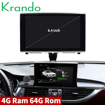 Krando Android 8.1 for Audi A6 A6L 2012-2015 8.4'' car radio dvd navigation multimedia player with bluetooth