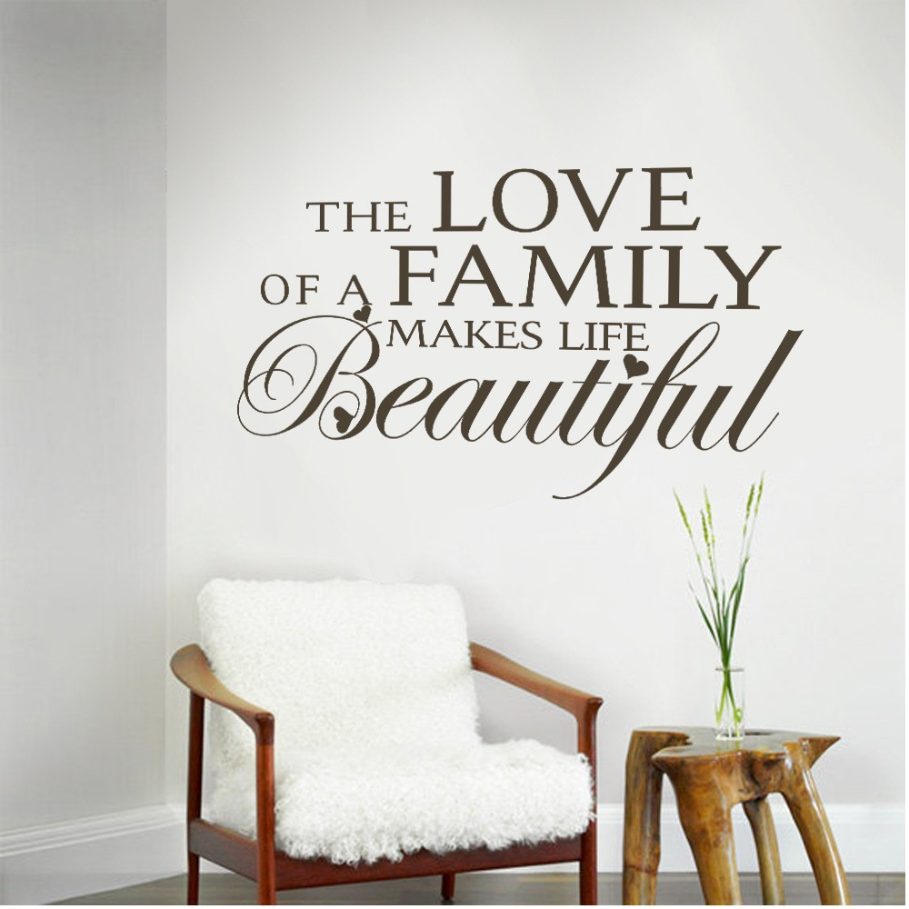 The Love of a Family Makes Life Beautiful Love Family Wall Quotes ...