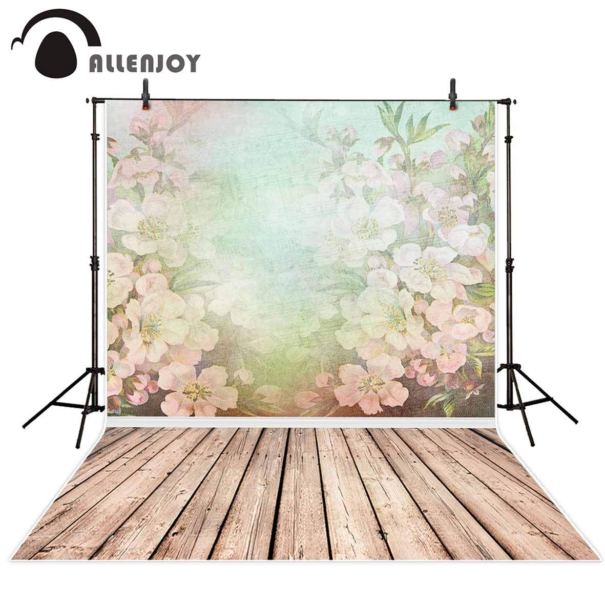 Allenjoy vinyl photographic background Flower wallpaper dreamy girl portrait new backdrop photocall photo printer customize