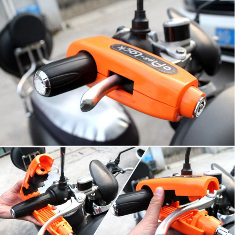 Universal Motorcycle Lock Scooter Handlebar Lock Brake Throttle Grip Anti Theft Protection Security Locks
