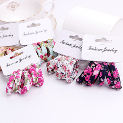 6PCS/Pack New Korean Cotton Print Hair Ropes Leopard High Elastic Headbands Elegant Hair Bands For Women Girls Hair Accessories
