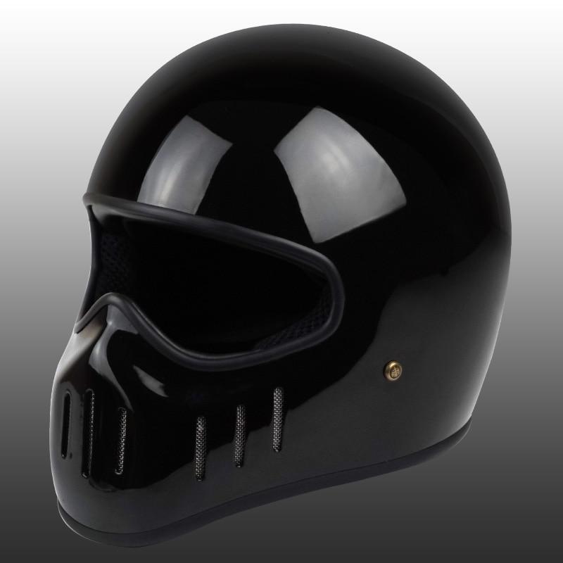 Image 3 - VCOROS Japanese tt&co full face motorcycle helmet fibe glass motorbike helmet Ghost Rider vintage racing locomotive moto helmet-in Helmets from Automobiles & Motorcycles
