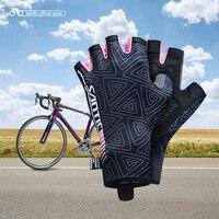 S anticผู้หญิงขี่จักรยานสั้นถุงมือครึ่งนิ้วป้องกันแสงแดดเก็บรักษาความร้อนMTBจักรยานขี่จักรยา...