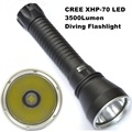 DV15 CREE XHP70 Flashlight LED 3500 lumens Professional Diving 100M Aluminum light cup Power Promise dimming Outdoor light