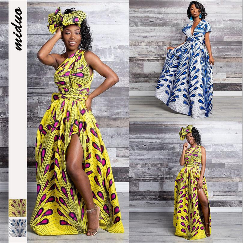 2019 african clothes women sexy long dress multi wear bandage wrap style clup party dashiki dresses ladies plus size high waist