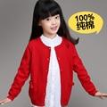 Новый 2015 Весна Осень Детская Одежда Хорошего Качества Девушки Кардиган Вязаный Свитер Хлопка Пальто, девочек Свитера Sueter Infantil