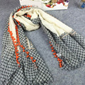 Весна и осень леди прекрасный мяч кистями шарф богемия хлопок шарф шаль женщин шарф люксовый бренд хиджаб