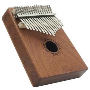 17 Keys Thumb Piano Wood Instrument Pine Aluminum Bar Kalimba Keyboard Music Portable Finger Board With Tune Hammer(China)