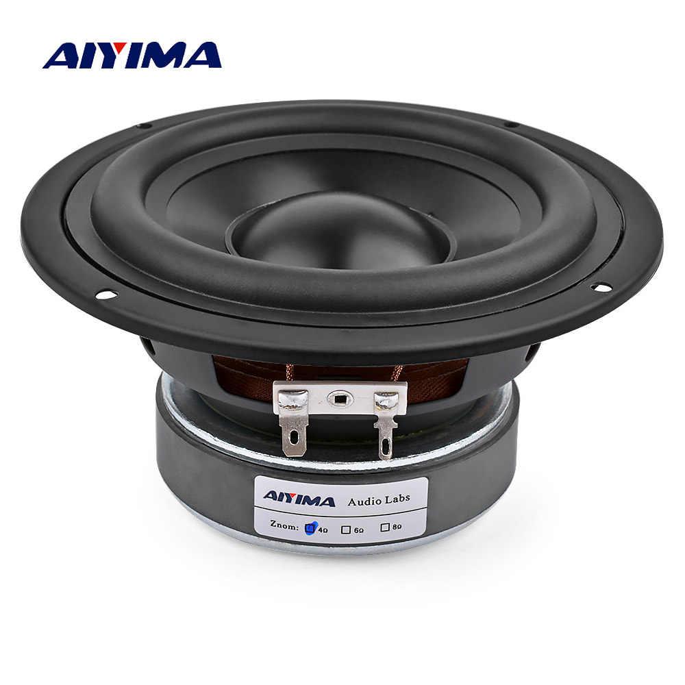AIYIMA 5,25 дюймов, сабвуфер динамик для домашнего кинотеатра, автомобильный аудио, басовый НЧ динамик 4 8 Ом 50 Вт HIFI усилитель звука громкий динамик