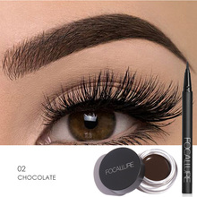 Focallure 2pcs Makeup Set Pro Eyeliner&Eyebrow Tint Women Beauty eyes&Brows Tools Long Lasting Eyebrow Dye Gel with Brush