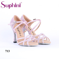 NEW IN 2018 Fresh Pink Latin Dance Shoes Summer Salsa Wedding Party Social Style Dance Shoes
