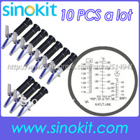 10 adet başına lot Toptan Etilen Glikol Antifriz ve Batarya Refraktometre RHA-503ATC