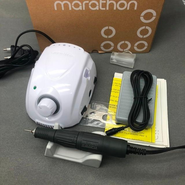 Fuerte maratón champion-3 H37L1 mango 35000 rpm taladro de uñas eléctrico fuerte 210 Micro Motor máquina de molienda para uñas herramientas de arte