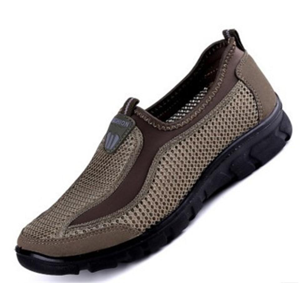 2018 Hot Sale Plus Size 38 48 Men Breathable Super Men's Casual Shoes New Summer Mesh Comfortable Men Shoes