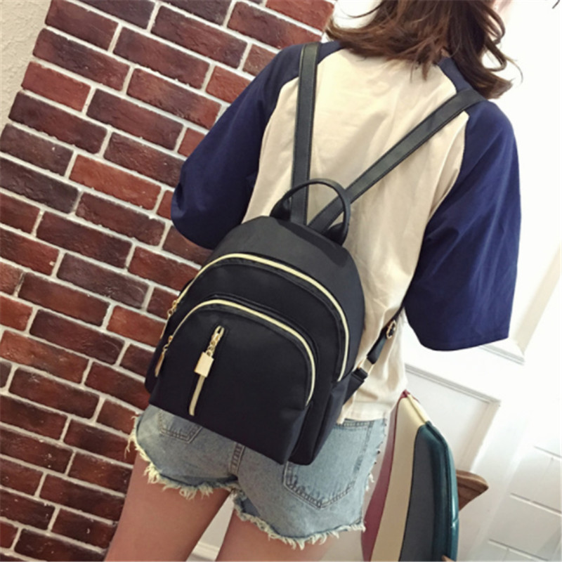 Women Mini Backpack Oxford Female Casual Solid Bag Oxford Waterproof Bag Portable Travel Bag Teenage Schoolbag Small Backpack