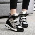 2016 Женщин Лифт Обувь Женщина Мода на Плоской Высокие Каблуки Случайные Скрытый Клин Обувь Платформы Клинья Дамы Лианы Zapatos Mujer