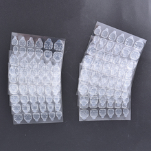 10Sheet/pack Transparent Double Sided Adhesive Tapes Stickers Fingernail Art False Nail Tips Extension Tools New Sale