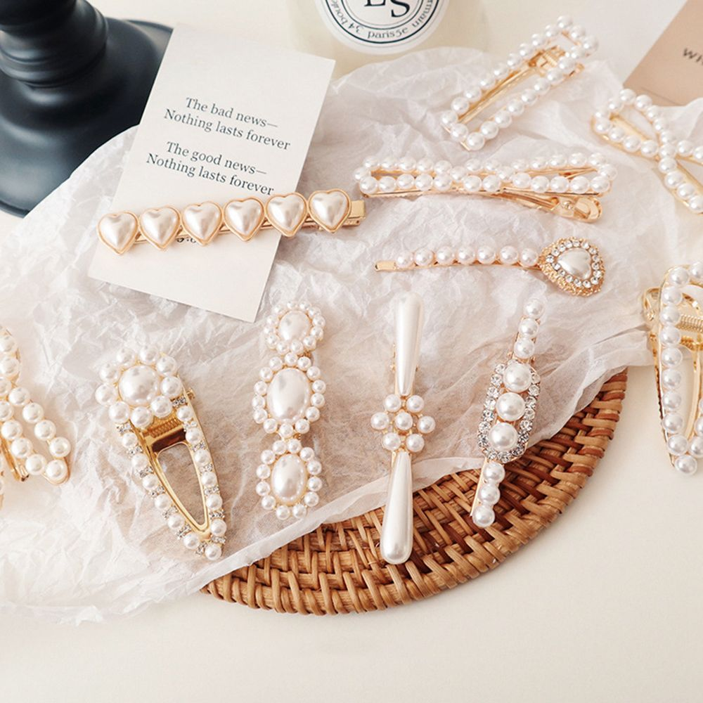 1 pc Korea Fashion Pearls Hair Clip Elegant Barrettes for Women Girls Vintage Pearl Flowers Hairpins Hair Accessories