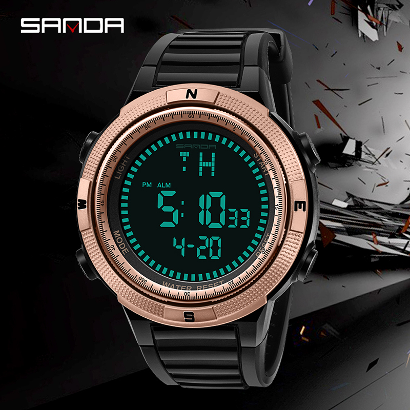 SANDA Luxury Brand Men Sports Watches Outdoor Waterproof Digital Watch Military Casual Clock Men Wrist Watch Relogio Masculino