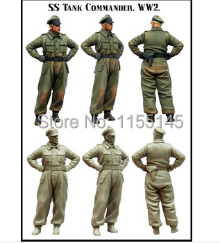 FREE SHIPPING 1 35 WWII German tank officer