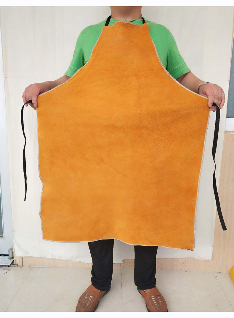 Welding Apron Heat Insulation A Whole Piece of Cow Leather Protective Aprons Flame Resistant Welders Workplace Safety Clothing (10)