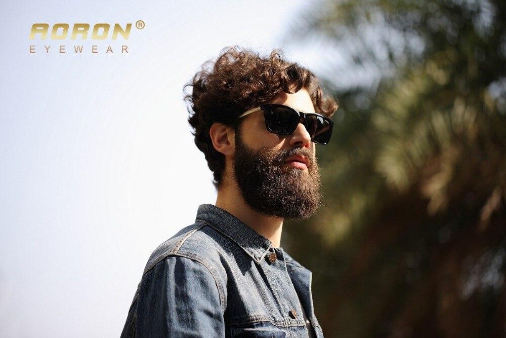 53151fedb073f AORON Óculos de Marca Polarizada Óculos De Sol Dos Homens do Desenhador  Clássico Defendendo Coating Lens Shades Óculos de Lazer Da Moda das Mulheres