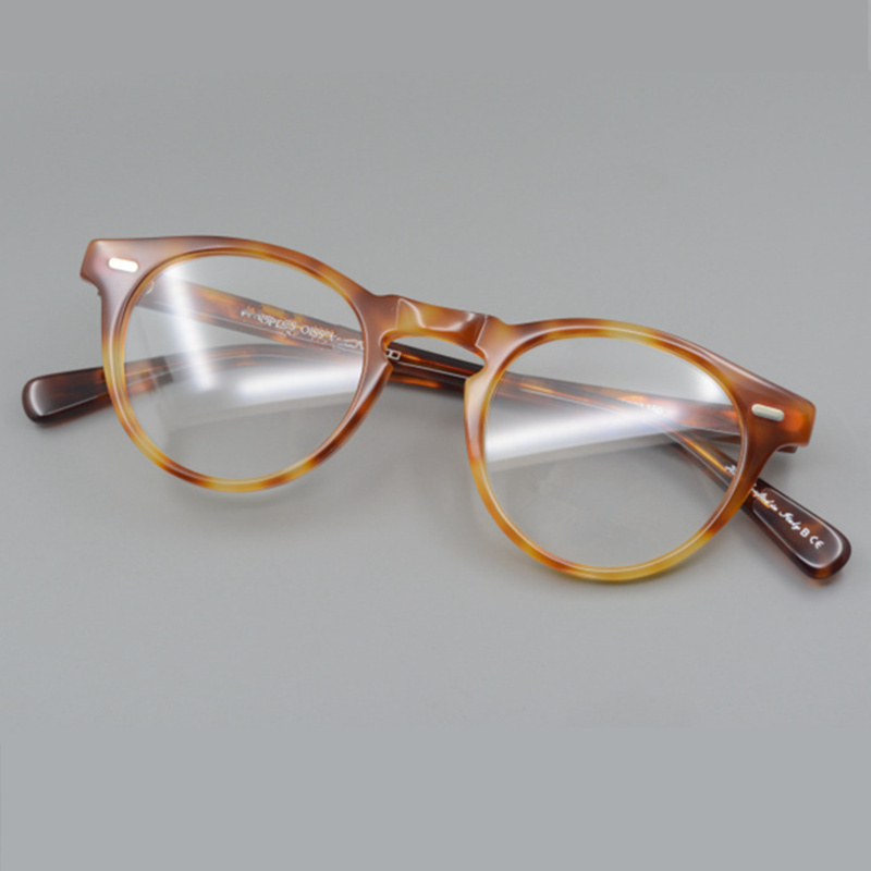 Vintage eyeglasses ov5186 Gregory peck clear frame glasses for women and men round glasses optical prescription lens