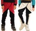 Взрослые Дети Мальчики Заклепки Искусственной Кожи Штаны Панелями Лоскутное Тонкий Карандаш Брюки Белый Черный Шаровары Hip hop штаны танца