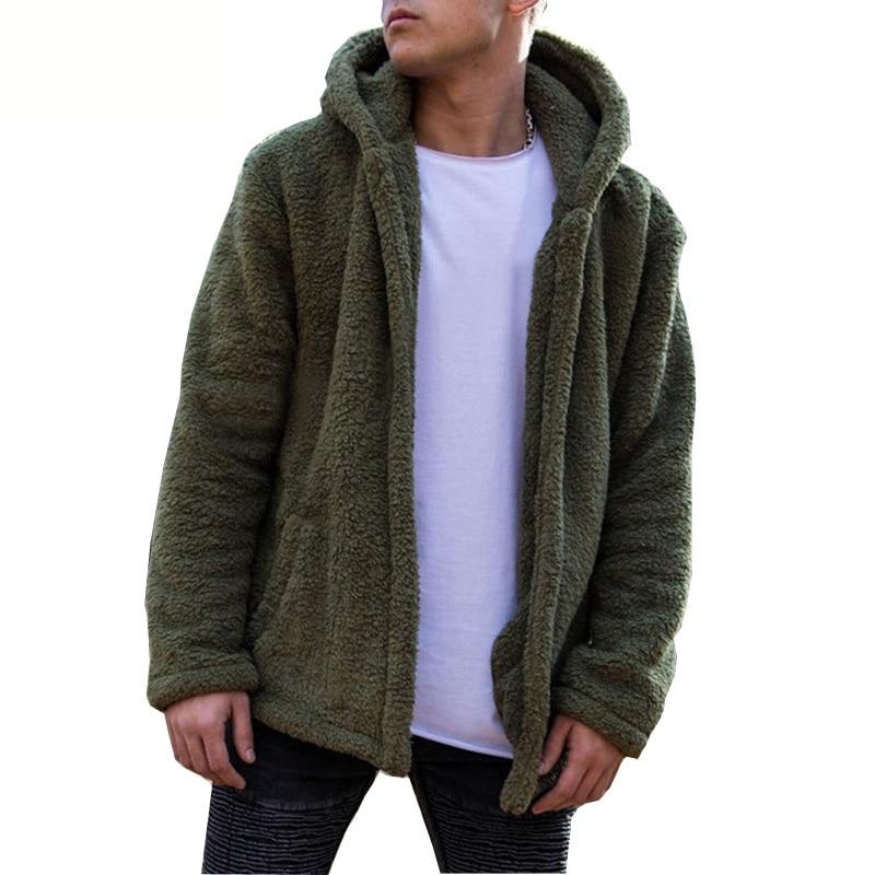 Briljant Pluizige Faux Bontjas Mannen Winter Jas Casual Solid Hooded Jassen Mannelijke Losse Warme Bovenkleding Plus Size S-3xl Vest Overjas Grote Uitverkoop