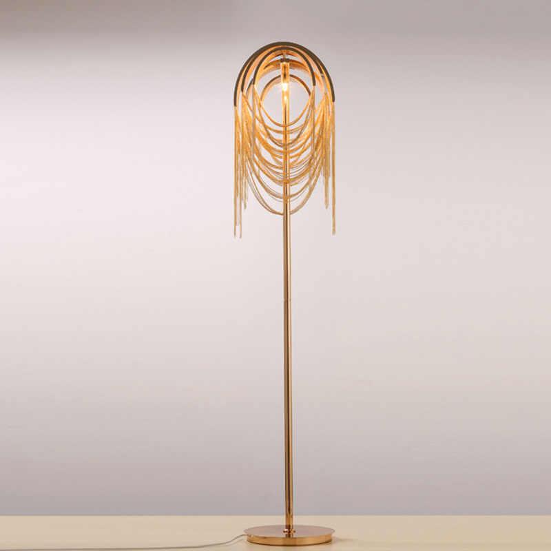 Алюминиевая, напольная свет Железный цвет серебристый, Золотой торшер абажур для чтения Спальня Гостиная декоративное освещение дома G780