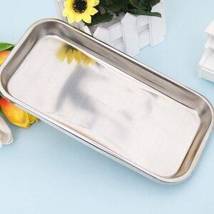 Image 4 - 1pc aço inoxidável bandeja de armazenamento comida prato frutas utensílios de mesa médico cirúrgica dental bandeja acessórios cozinha