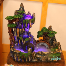 Office Feng Shui ornaments home accessories indoor water tank rockery water fountain humidifier bonsai