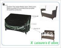 Livraison gratuite En Plein Air deux sièges En Rotin chaise, housse de canapé, imperméabilisé, UV épreuve, à La Poussière imperméabilisé All weather protection