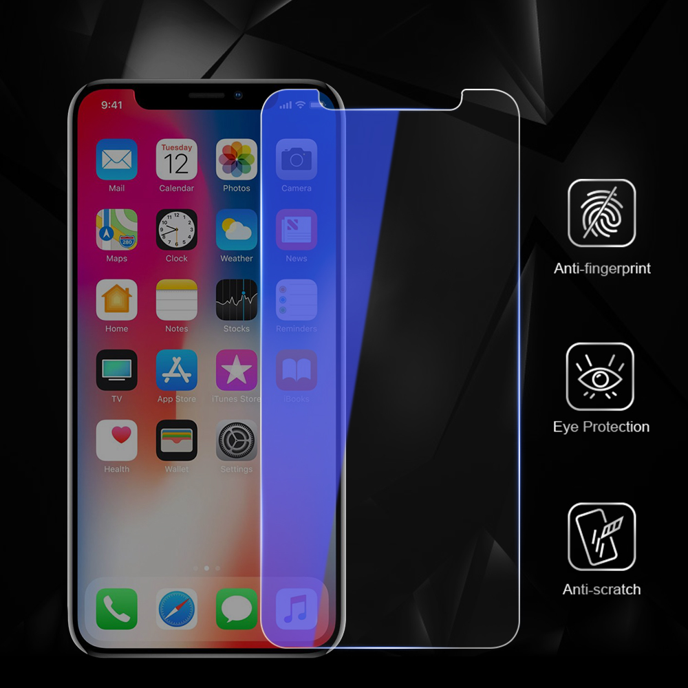 CASEIER 9H Tempered Glass For iPhone X Colorful Plating Mirror Screen Protectors For iPhone 7 8 Plus Front Film Ultra thin Glass in Phone Screen Protectors from Cellphones Telecommunications