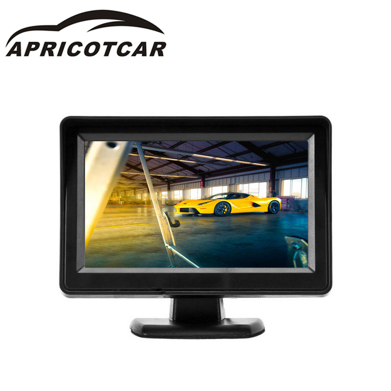 4.3 Inch LCD Sunshade Car RearView Monitor 2-CH Video Input DVD Monitor DC 12V PAL / NTSC Dual Auto Switch TFT Picture Tube