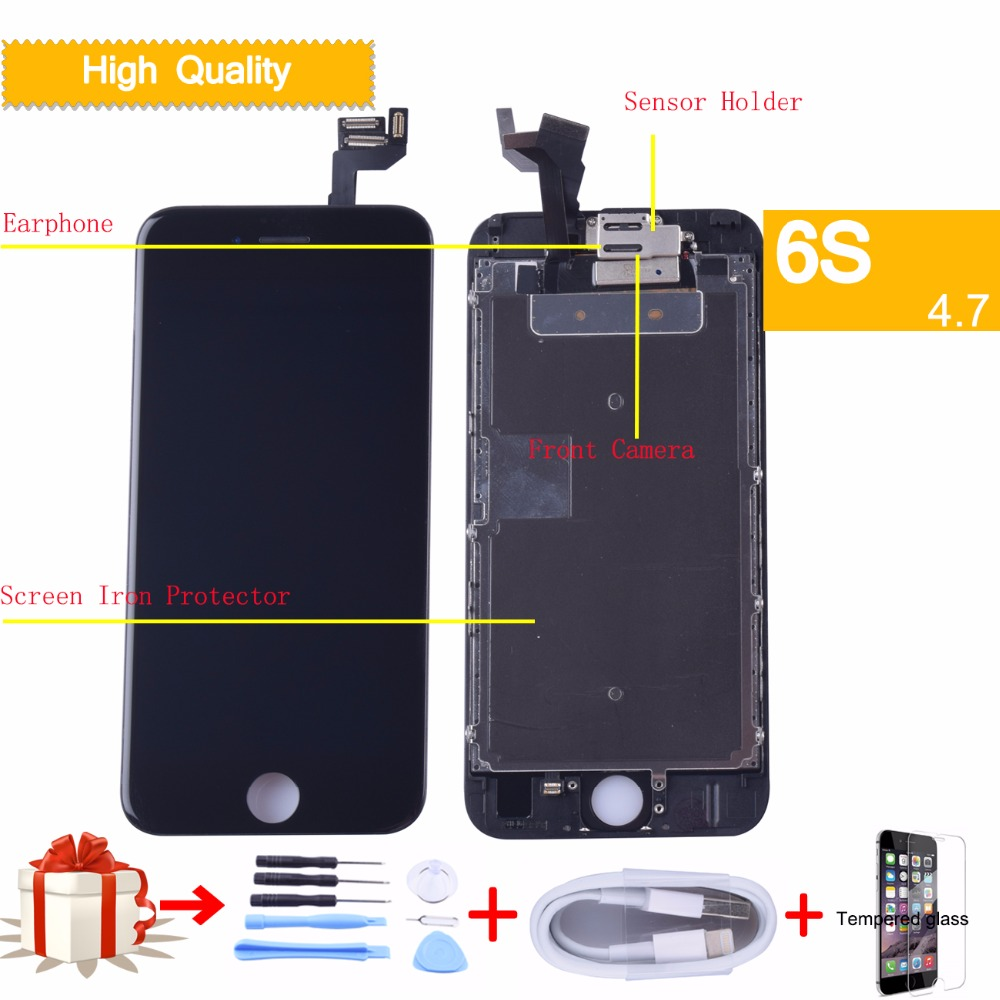 Di ricambio Per iPhone 6 s Display LCD A CRISTALLI LIQUIDI di trasporto Digitizer Touch Screen Completato Assemblea Con piccole Parti No Dead Pixel originale lcdDi ricambio Per iPhone 6 s Display LCD A CRISTALLI LIQUIDI di trasporto Digitizer Touch Screen Completato Assemblea Con piccole Parti No Dead Pixel originale lcd