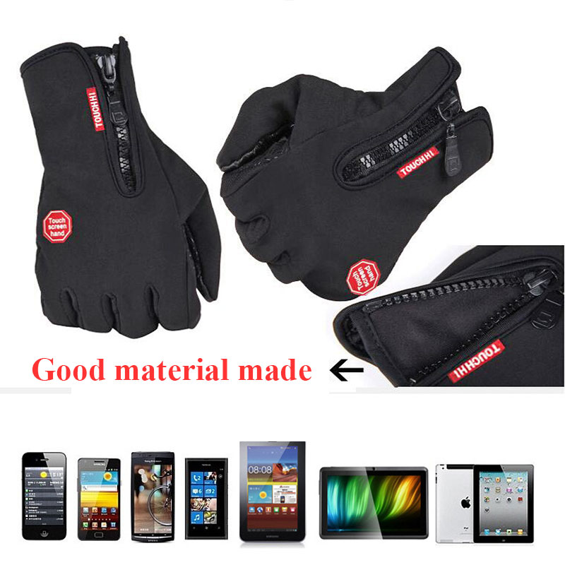 2018 Guantes De Trabajo Ski Sports Men And Women Riding Full Finger Touch Non-slip Waterproof Windproof Fleece Warm Cold Gloves racmmer cycling gloves guantes ciclismo non slip breathable mens