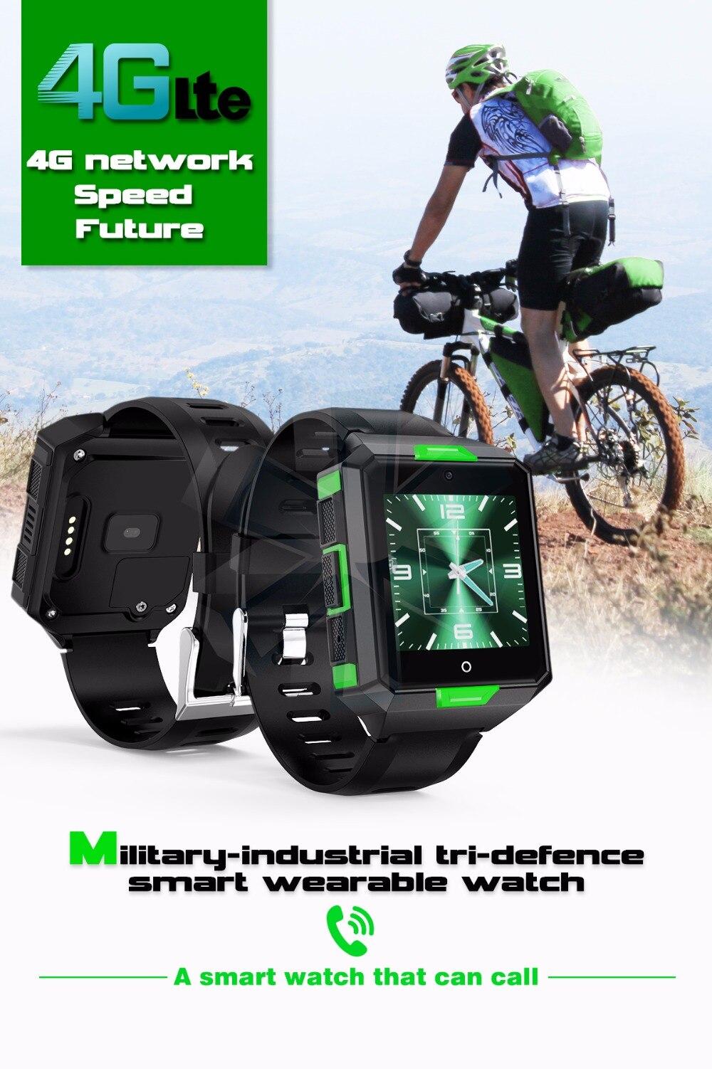 MTK6737 armée 4G montre intelligente tension artérielle fréquence cardiaque montre-bracelet carte SIM appel vidéo musique Wifi militaire Smartphone montres 8 gb