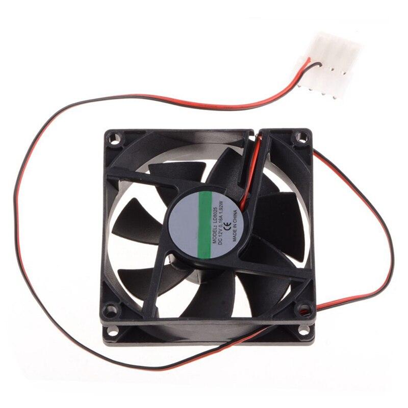 8CM Cooling Fan DC 12V Computer CPU Fan Power Supply Fan 45cm Cable