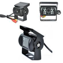 18 ИК-подсветкой заднего вида Камера реверсивная Парковка заднего Cam Ночное видение 120 градусов Широкий формат Водонепроницаемый для грузовик автобус