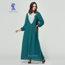 10009 Muslim abaya islamic clothes for women muslim long sleeve maxi dress turkish islamic abaya Women High quality muslim dress