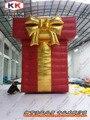 Наружная реклама оборудование Рождественский подарок надувные подарочной коробке для рекламы шоу на Рождество