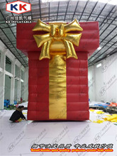Big inflatable present inflatable gift box for advertisement display
