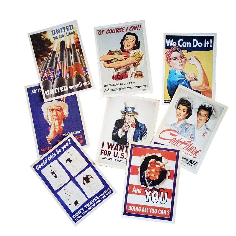 ᐊ32 unids/pack Estilo Vintage ww2 Militar tema postales regalo ...