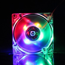 1PCS/Lot GDT 12025 12V 4P DC Colorful Light 120MMx120MMx25mm  120MM 12CM PC Comptuer LED cooling radiator fan