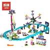 LEPIN 01008 Girl Series Friend Park Roller Coaster Ferris Wheel Creative DIY Set Model Building Kits