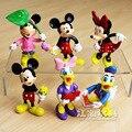 Figuras Da Disney Mickey Mouse Minnie Mouse Pato Donald Dos Desenhos Animados Figura de Ação PVC Figuras Brinquedos Bonecas de Brinquedo Crianças Grande Presente